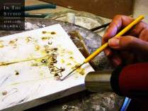 Fusing Argentium Silver with torch