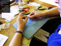 Making a necklace in Argentium Silver