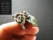 Precious-Metal-Clay-Floral-Ring