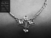 Single link argentium necklace