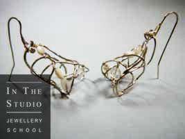 Soldered silver earrings