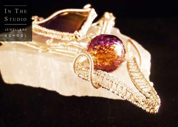 Wire-Weaving-Stone-Set-Pendant