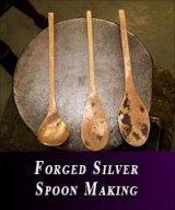 Forged silver spoon making course