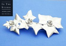 Silver-Chasing-and-Reposse-Ivy-and-Rose-Brooch