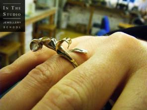 Silver-Lily-Ring-from-Casting-Course