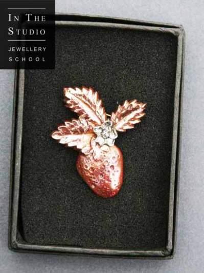 Strawberry-brooch