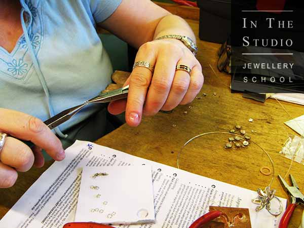 Student making Argentium Silver jewellery